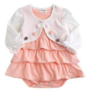 bbc50842e61 쁘띠볼레로 원피스슈트 유아원피스 아기슈트 여자아기옷 유아복 아기옷